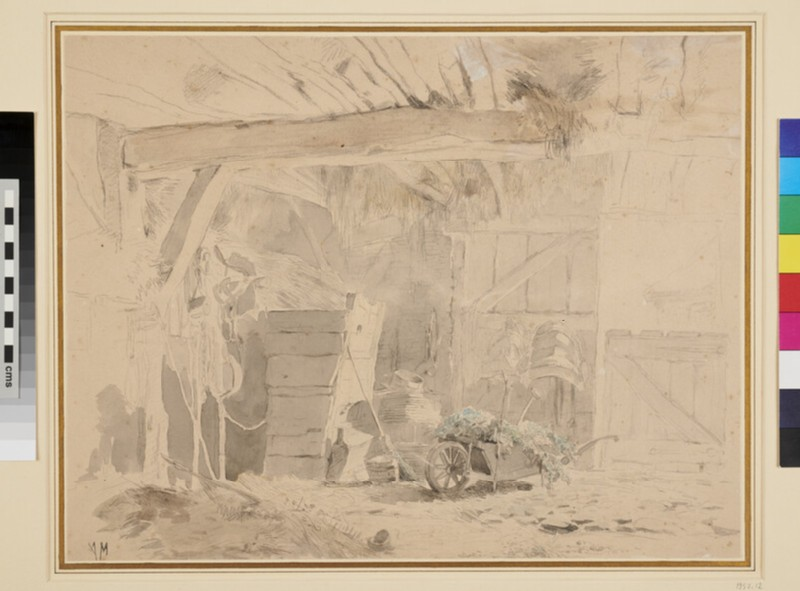 The Interior of a Barn (WA1957.12, recto)