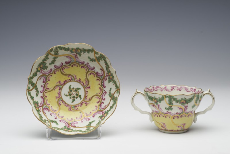 Caudle cup and saucer (WA1957.24.1.683)