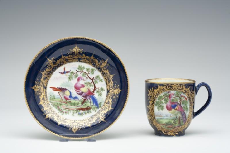 Coffee cup and saucer (WA1957.24.1.140)