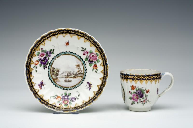 Coffee cup and saucer (WA1957.24.1.25)