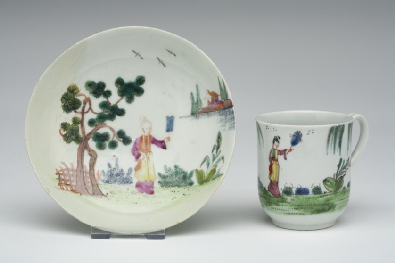 Coffee cup and saucer (WA1957.24.1.337)