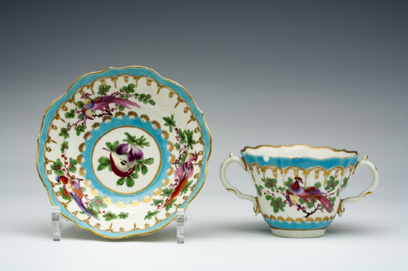 Caudle cup and saucer