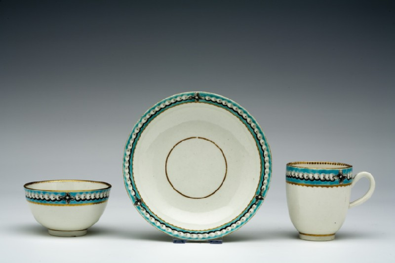 Tea bowl, coffee cup and saucer (WA1957.24.1.351)