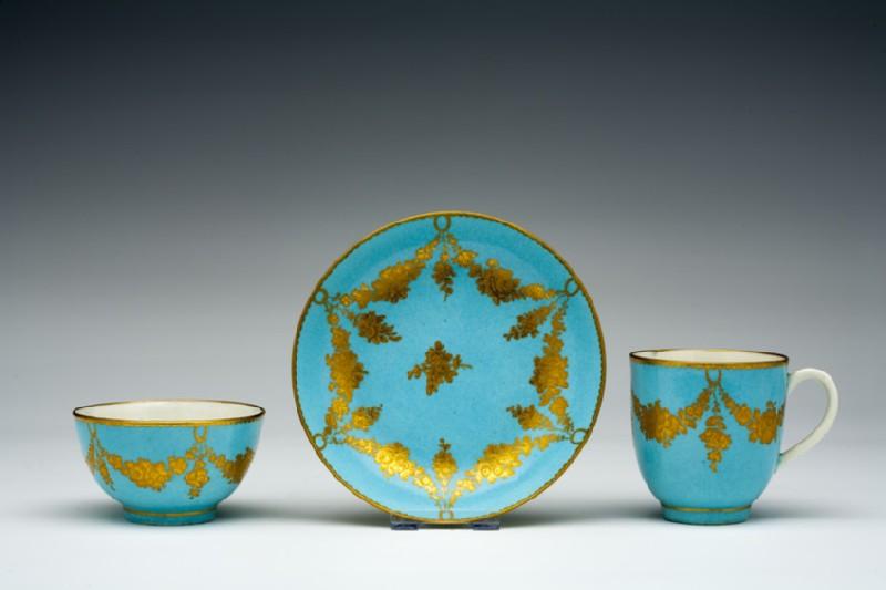 Teabowl, coffee cup and saucer (WA1957.24.1.362)