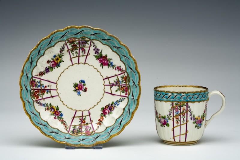 Coffee cup and saucer (WA1957.24.1.364)