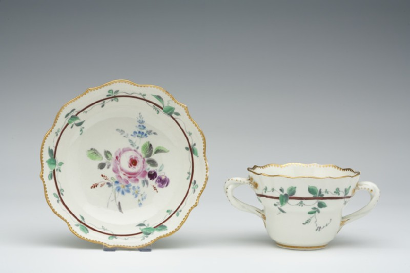 Caudle cup and saucer (WA1957.24.1.412)