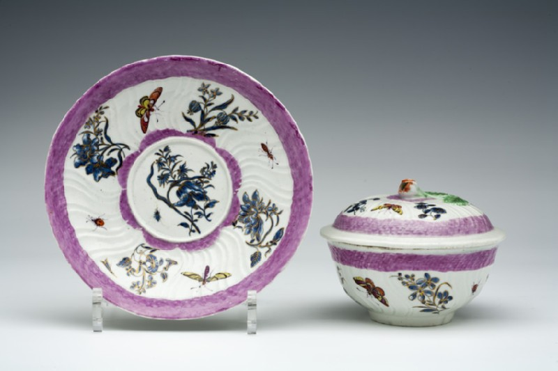 Bowl, cover and stand