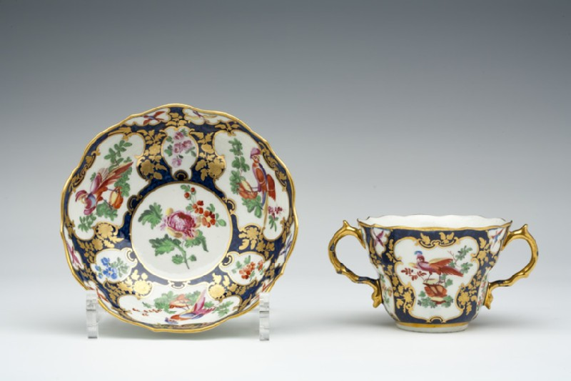 Caudle cup and saucer (WA1957.24.1.547)
