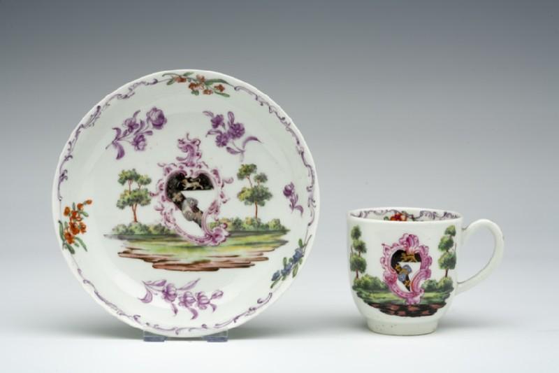 Coffee cup and saucer (WA1957.24.1.653)