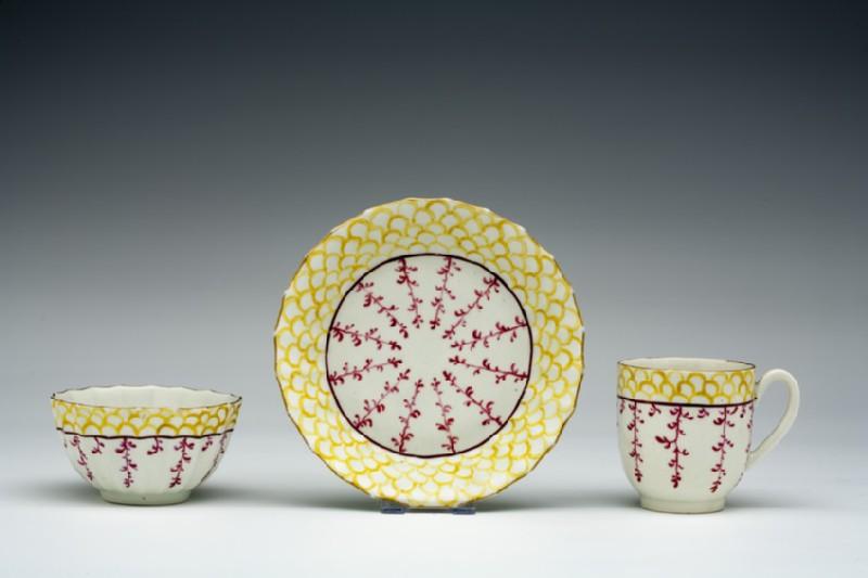 Tea bowl, coffee cup and saucer