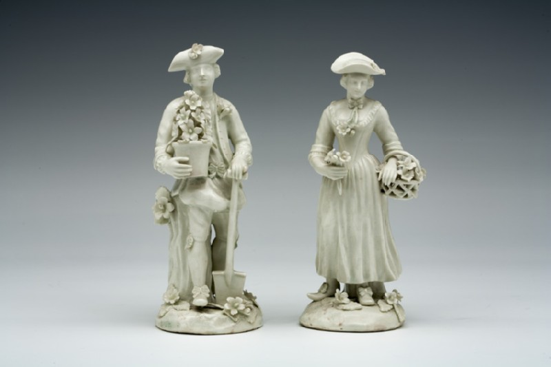 Figure of a Gardener, one of a pair