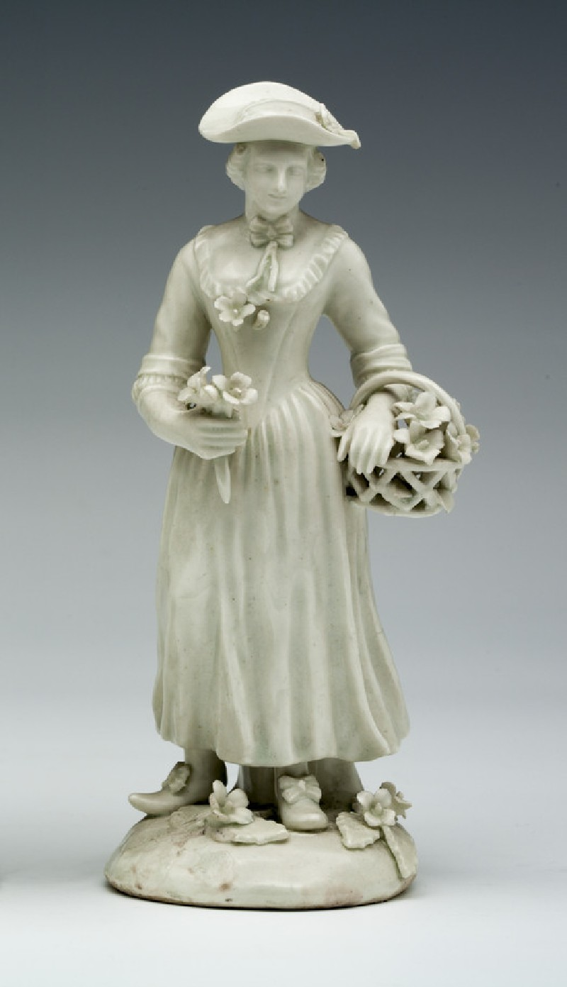 Figure of a Gardener's companion, one of a pair