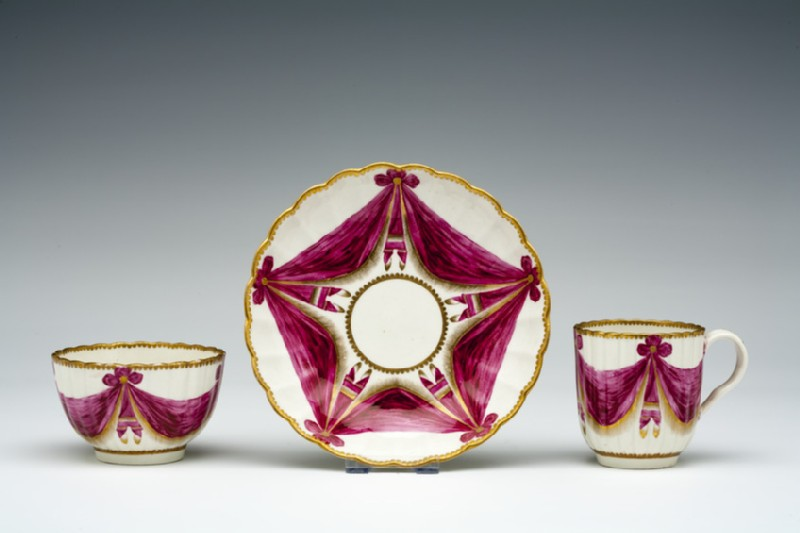 Tea bowl, coffee cup and saucer (WA1957.24.1.898)