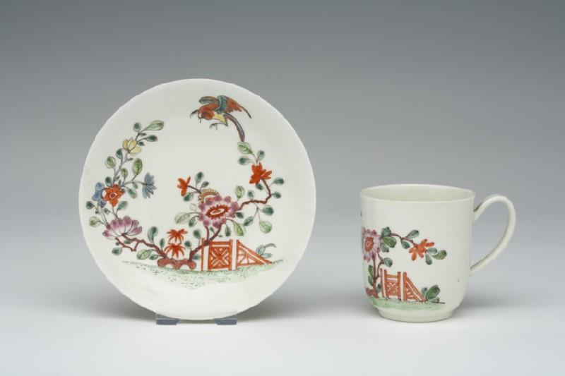 Coffee cup and saucer (WA1957.24.1.961)