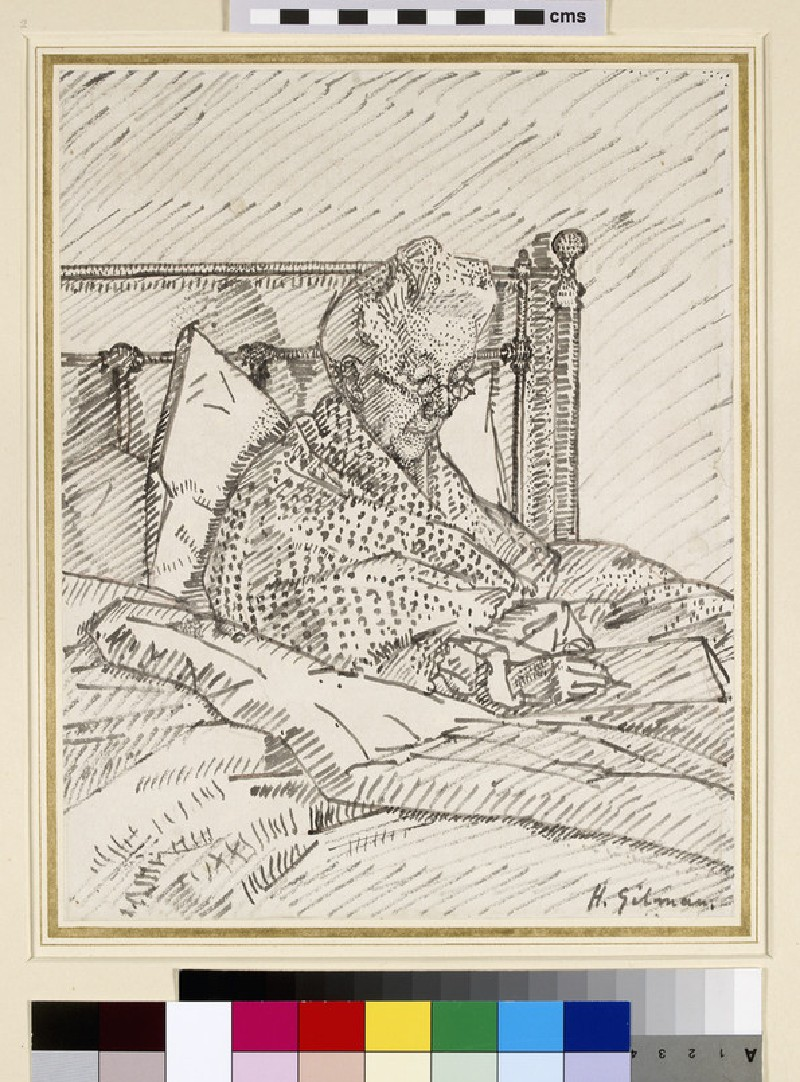 Portrait of the Artist's Mother writing in Bed (WA1957.55)