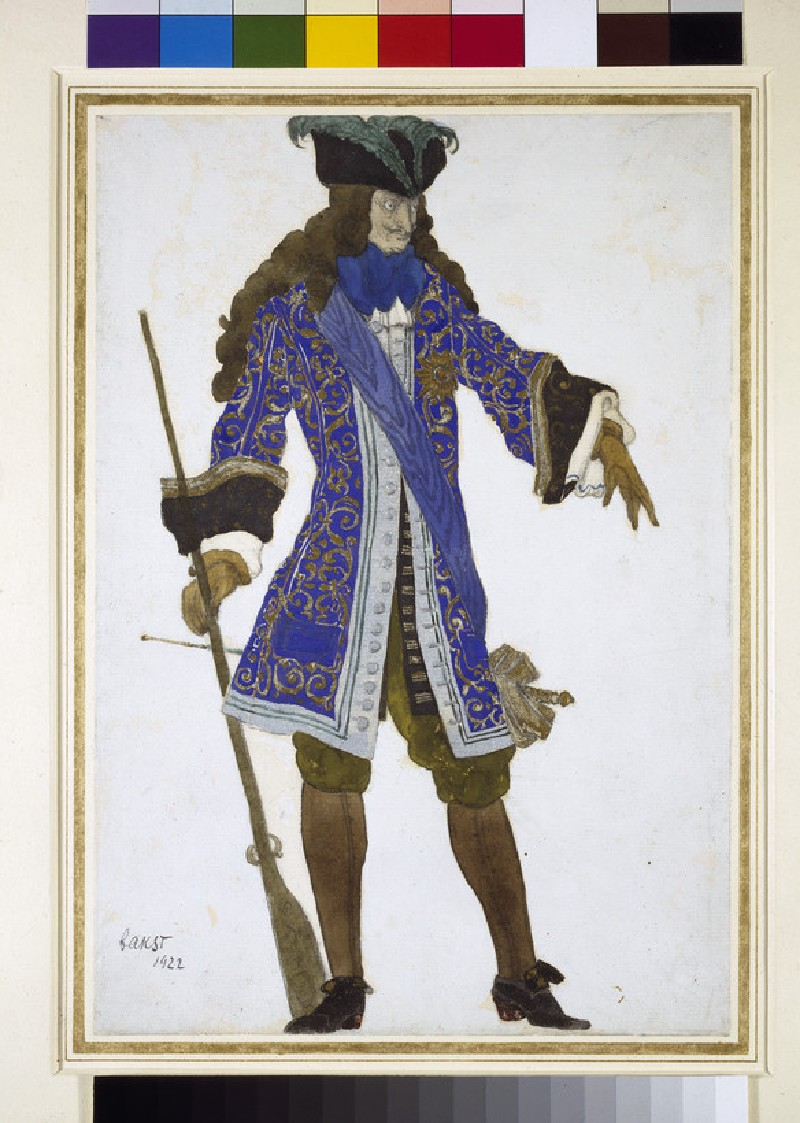 Design for the Count's Costume in Act III of 'The Sleeping Princess' (WA1957.58)