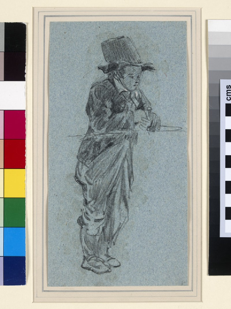 Study of a Boy leaning against a Rail (WA1958.28.14)