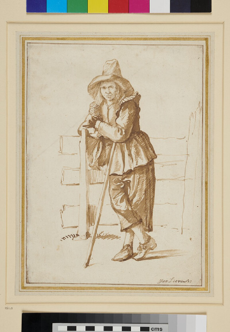 A Peasant leaning against a Fence