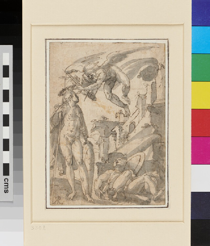 Allegory with three male Figures (WA1959.31.1, recto)