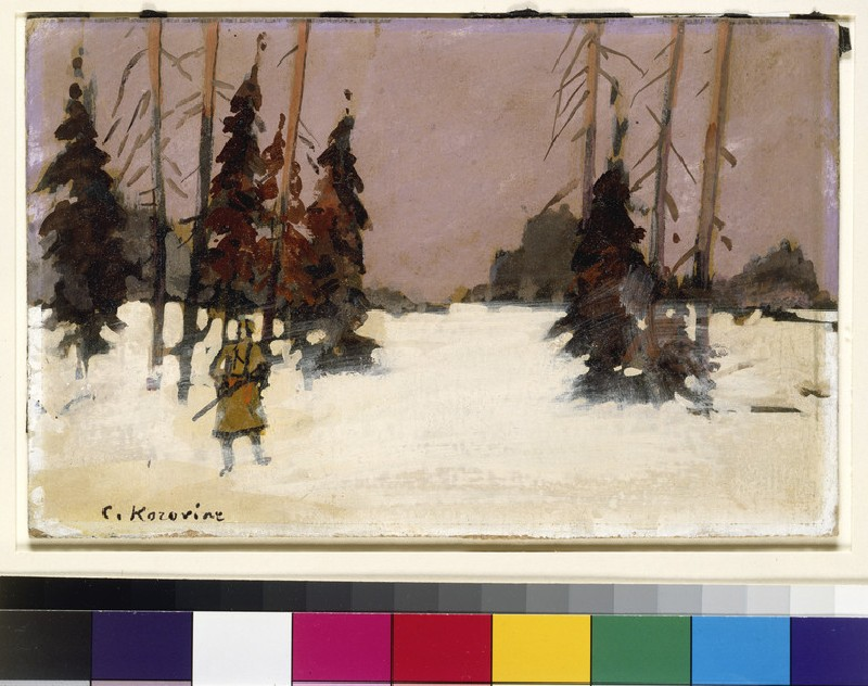 Winter Landscape with a Hunter (WA1960.36.6)