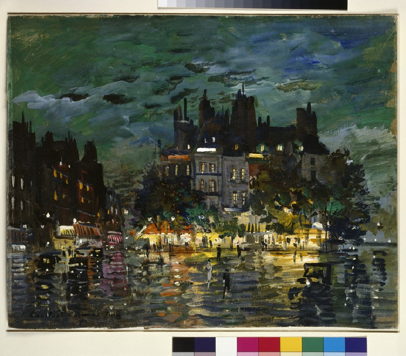 View of Paris by Night (WA1960.36.9)