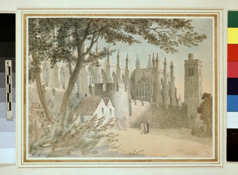 New College Chapel, Oxford, from the North East