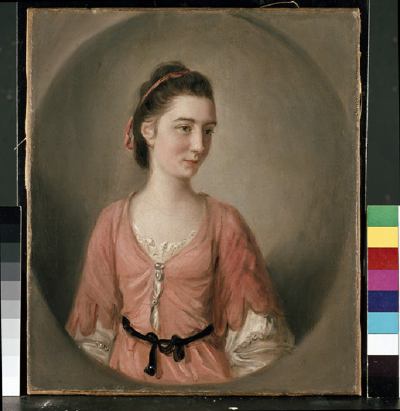 Portrait of a young Lady in a pink Dress