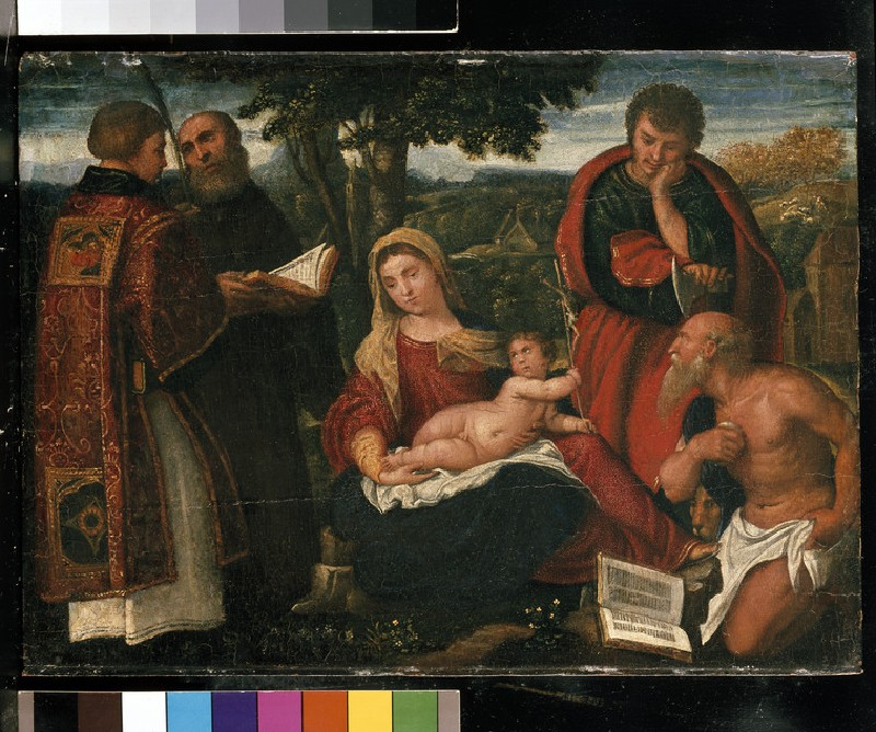 The Virgin and Child with Sts Stephen, Augustine, Jude and Jerome (WA1960.56)