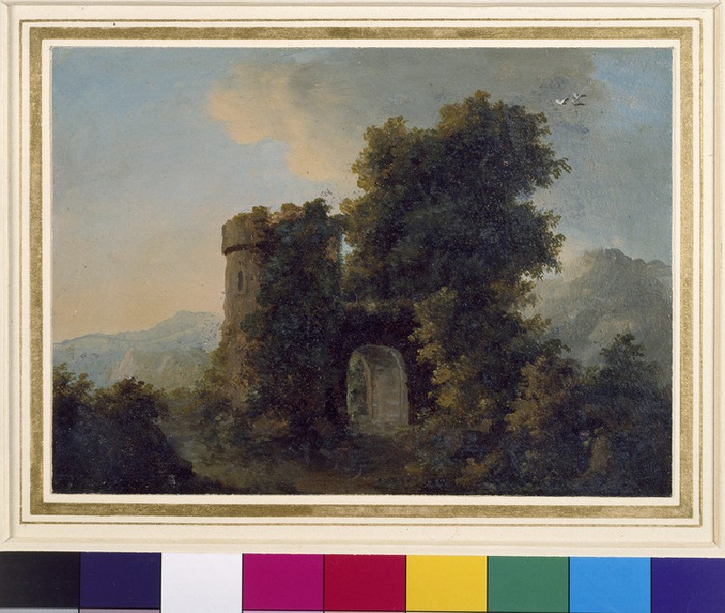 Landscape with a fortified Gateway (WA1961.1.1)