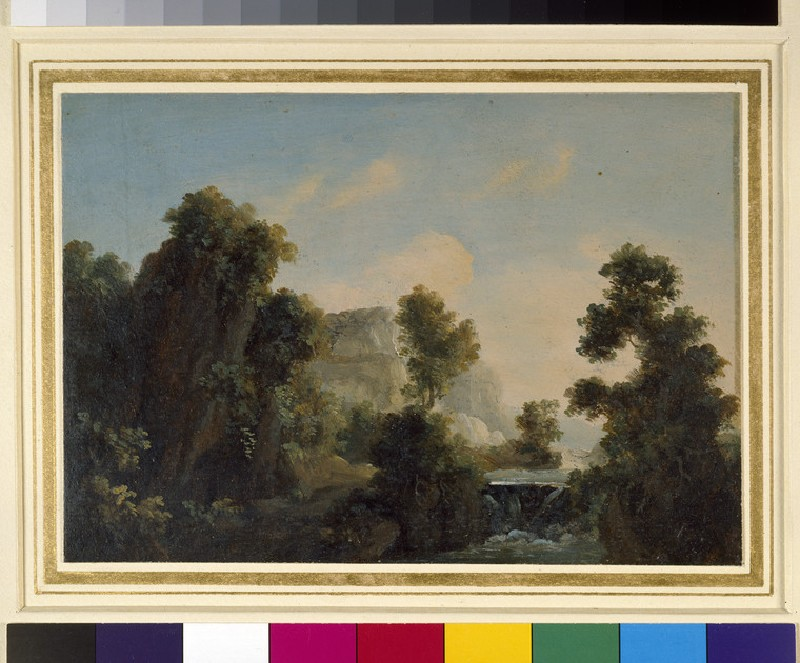 Landscape with a Waterfall (WA1961.1.2)
