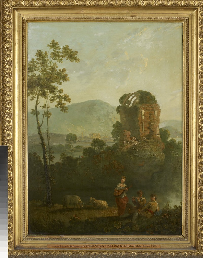 Pastoral Scene with Musicians by a classical Ruin
