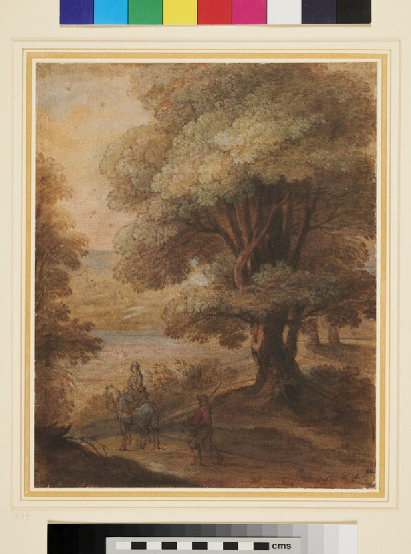 Two Travellers in a Landscape (WA1962.17.33, recto)