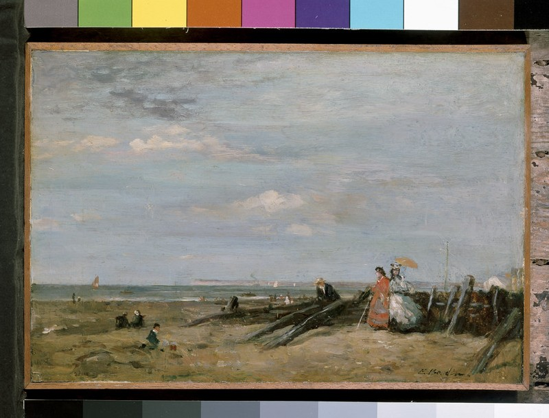 A Beach Scene at Trouville