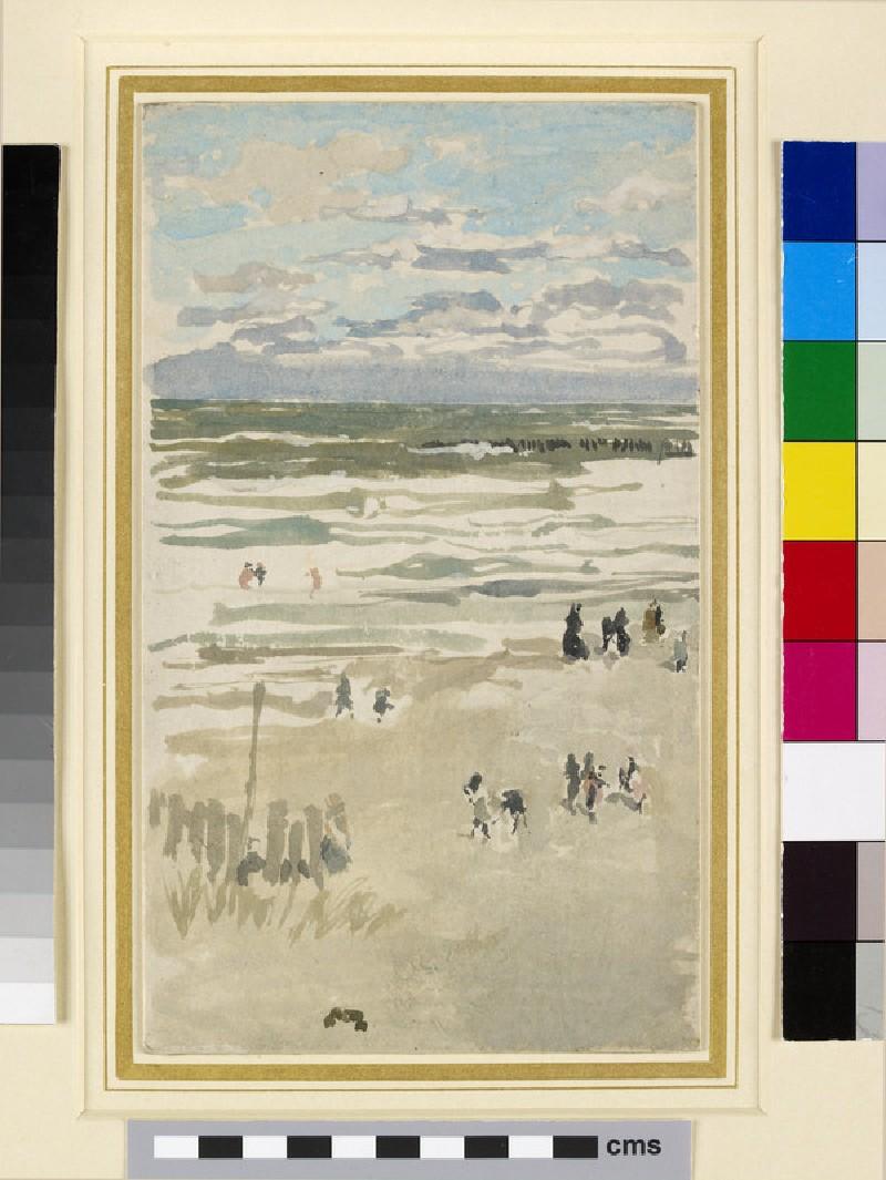 Beach scene with a breakwater (WA1962.17.83)