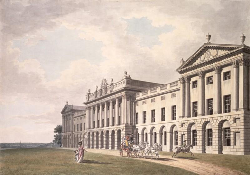 View of Heveningham Hall in Suffolk, the Seat of Sir Gerrard Vanneck Bart