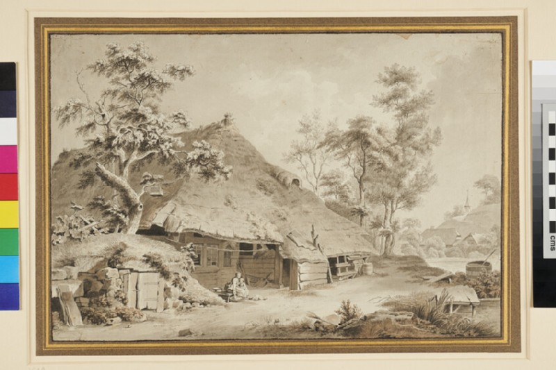 Landscape with a Farmstead, near Berne (WA1963.33, recto)