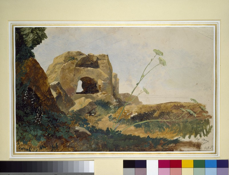 Study of Rocks and Foliage, Agrigento (Girgenti), Sicily