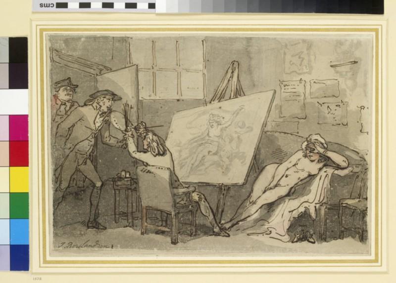 Intrusion on Study, or the Painter disturbed (WA1963.89.74)