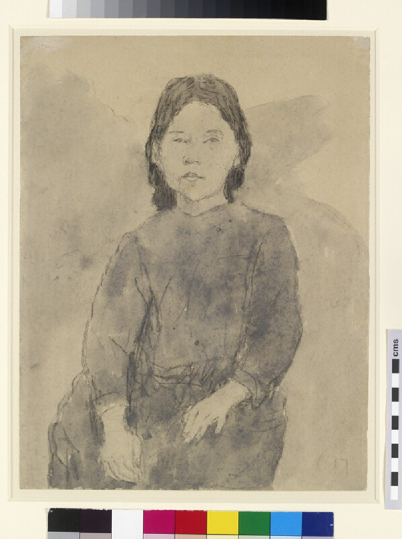 Seated girl, probably Marie Hamonet
