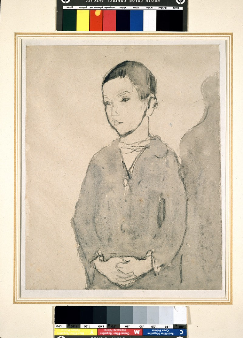 Boy with clasped Hands