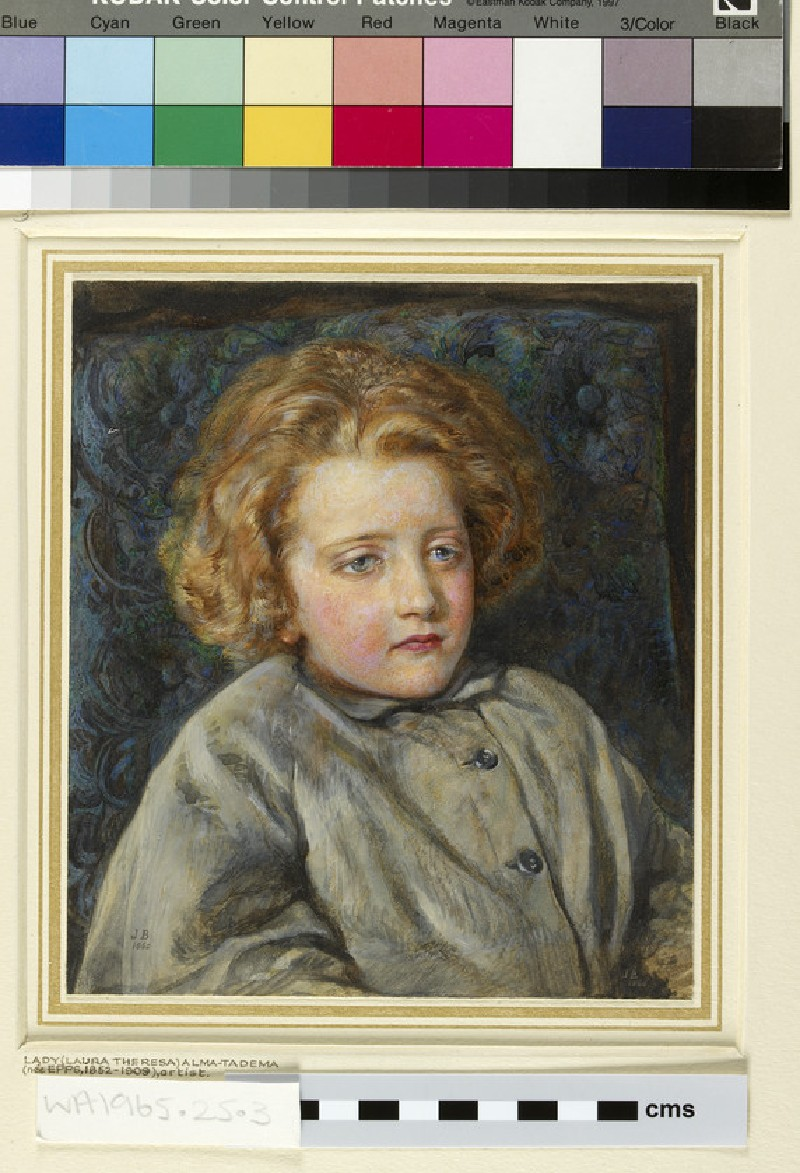 Portrait of Laura Theresa Epps (Lady Alma-Tadema) as a Child