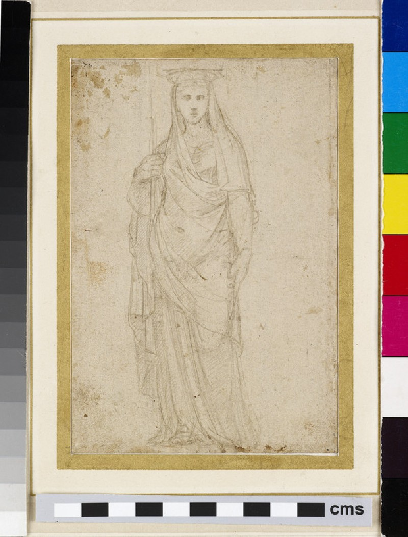 Recto: A Caryatid<br />Verso: Study of a Herm