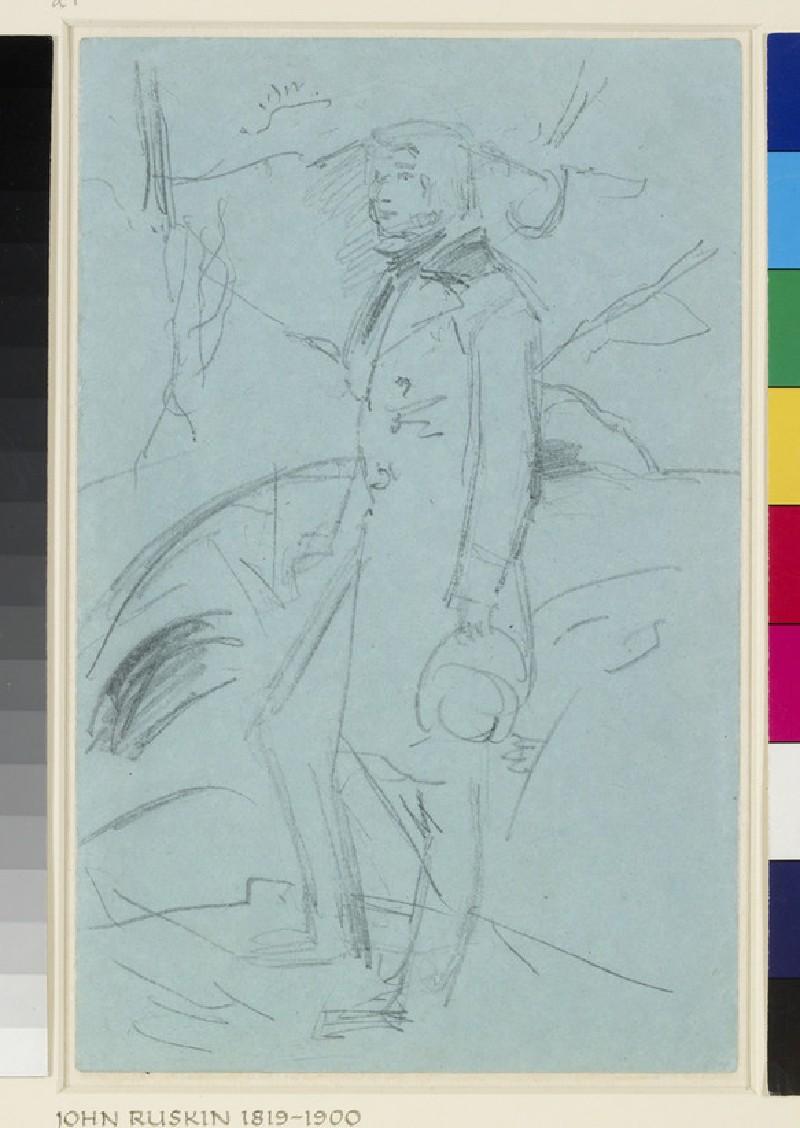 Preliminary Sketch for the Portrait of John Ruskin