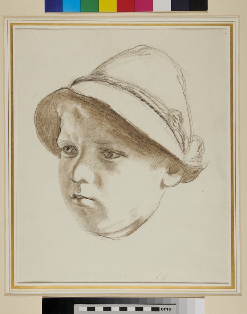 Portrait Head of a Girl in a Hat