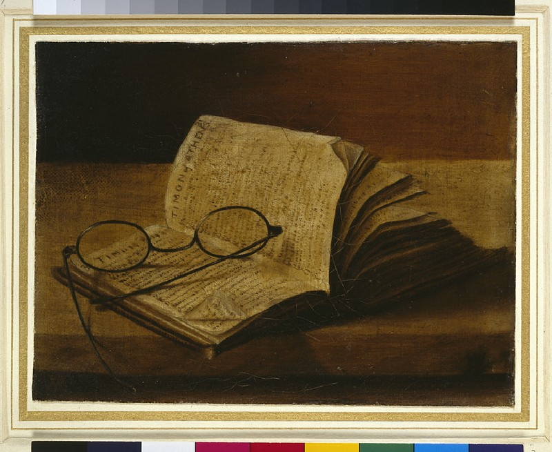 Still Life with an open Book and Spectacles (WA1966.20.2)