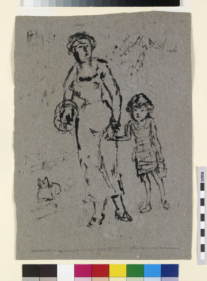 Woman walking with a Child