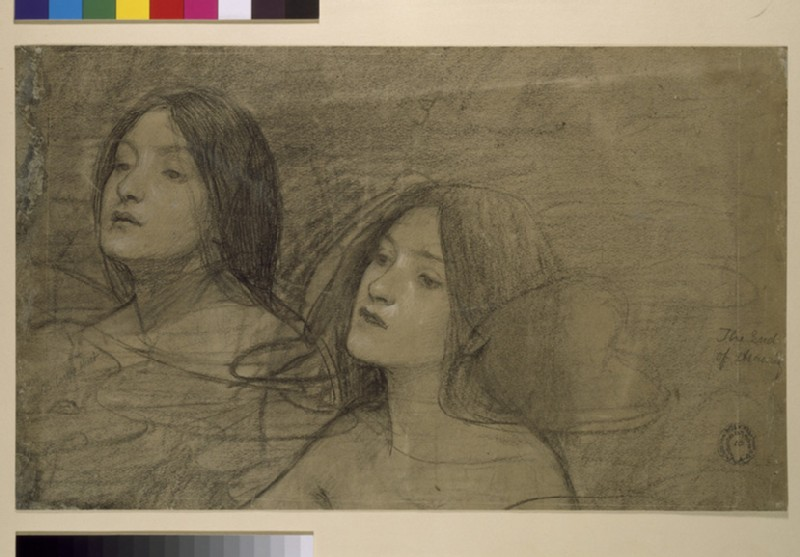 Study of two nymphs for 'Hylas and the Nymphs'
