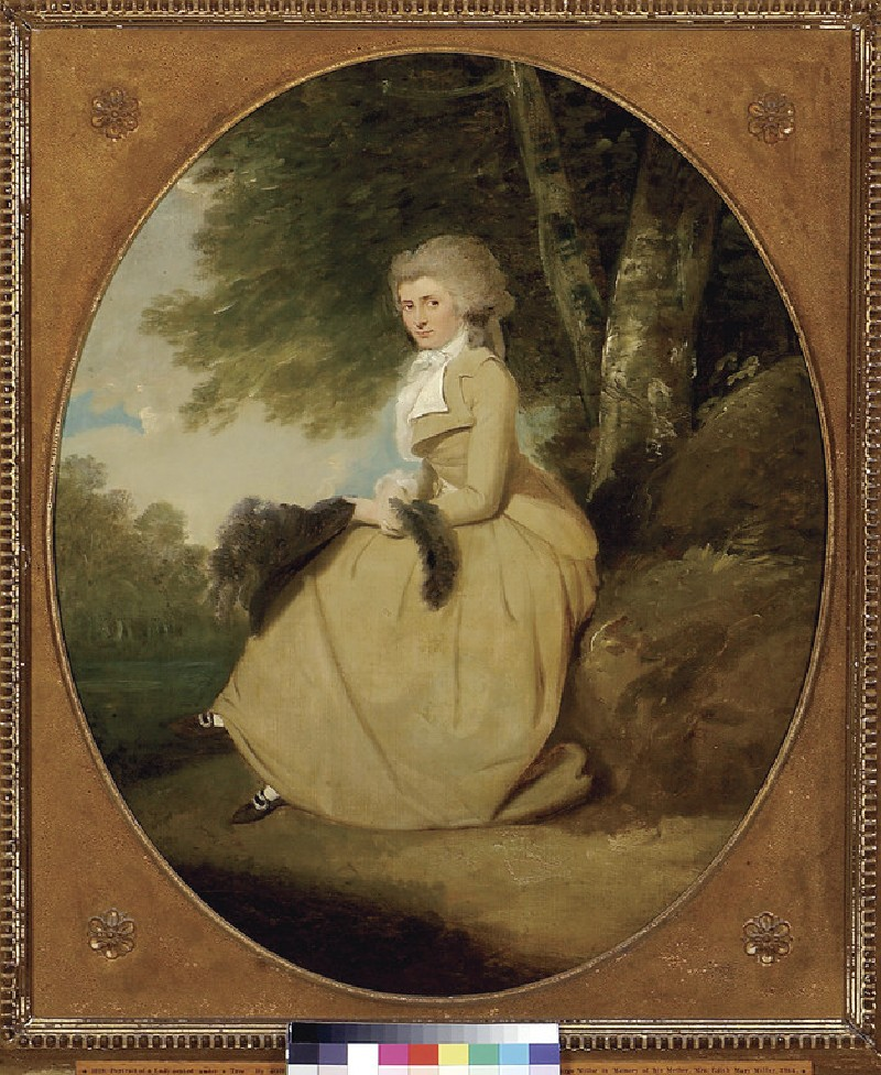 Portrait of a Lady seated under a Tree