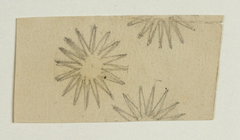 Decorative Design with many-pointed Stars