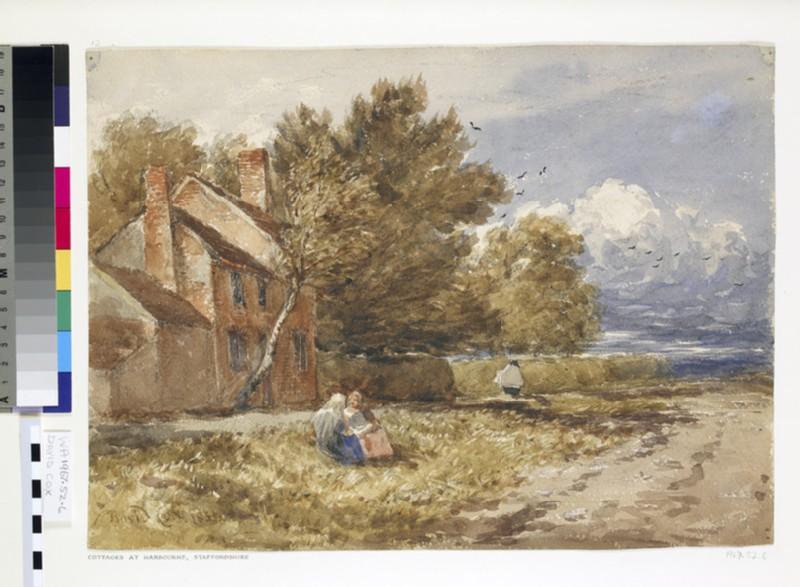 Cottages at Hanbourne, Staffordshire (WA1967.52.6)